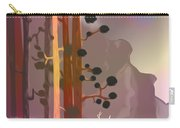 White Deer Climbing Mountains - Abstract And Colorful Forest Carry-all Pouch
