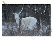 White Deer In Winter Carry-all Pouch
