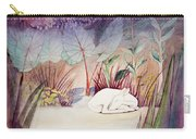 White Doe Dreaming Carry-all Pouch