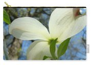 White Dogwood Flower Art Prints Blue Sky Baslee Troutman Carry-all Pouch