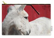 White Donkey, Red Barn Carry-all Pouch
