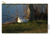White Duck Resting Carry-all Pouch