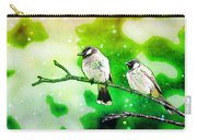 White-eared Bulbul - Watercolor Carry-all Pouch