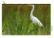 White Egret In Waiting Carry-all Pouch
