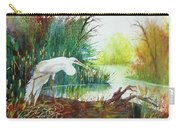 White Egret Swamp Carry-all Pouch