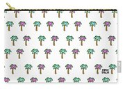 White Epic Palm Tree Print Carry-all Pouch