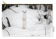 White Ermine Carry-all Pouch