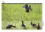 White-faced Ibis Preparing To Land Carry-all Pouch