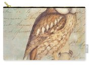 White Faced Owl Carry-all Pouch