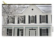 White Farm House In Winter Carry-all Pouch