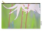 White Fawn Lilies In The Rain Carry-all Pouch