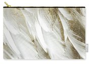 White Feathers With Gold Carry-all Pouch