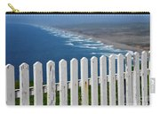 White Fence And Waves Carry-all Pouch