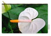 White Flamingo Flower Carry-all Pouch