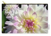 White Floral Art Bright Dahlia Flowers Baslee Troutman Carry-all Pouch
