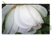 White Floral Carry-all Pouch