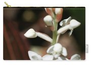 White Flower Buds Carry-all Pouch
