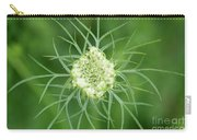 White Flower Spidery Leaves Carry-all Pouch