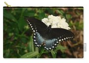 White Flowered Butterfly Carry-all Pouch