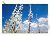 White Flowering Sea Squill On A Blue Sky Carry-all Pouch
