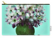 White Flowers In A Vase Carry-all Pouch