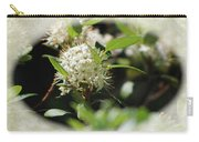 White Flowers On Canvas Carry-all Pouch