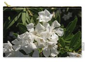 White Flowers On Green Leaves Carry-all Pouch