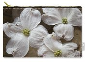 Dogwood White Flowers On Stones Carry-all Pouch