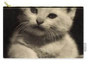 White Fluffy Kitten Carry-all Pouch
