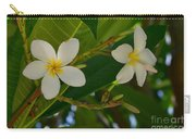 White Frangipani Flowers Carry-all Pouch