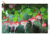 White Fuchsia Carry-all Pouch