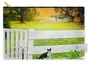 White Gate Cat Carry-all Pouch