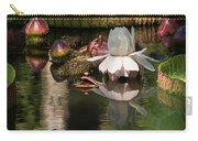 White Giant Water Lily Carry-all Pouch