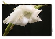 White Gladiolus Carry-all Pouch