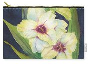 White Glads Carry-all Pouch