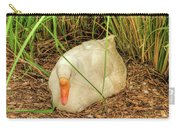 White Goose By Pond Carry-all Pouch