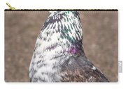 White-gray Pigeon Profile Carry-all Pouch