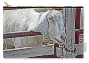 White/grey Goat Head Through Fence 2 6242018 Goat 2420.jpg Carry-all Pouch