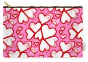 White Hearts - Valentines Pattern Carry-all Pouch