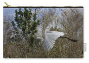 White Heron In Flight Carry-all Pouch