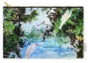 White Herons Carry-all Pouch
