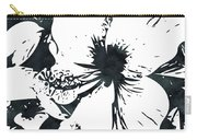 White Hibiscus- Art By Linda Woods Carry-all Pouch
