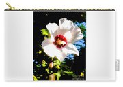 White Hibiscus High Above In Shadows Carry-all Pouch