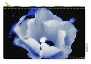 White Hibiscus On Black Background Carry-all Pouch