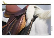 White Horse And Saddle Carry-all Pouch