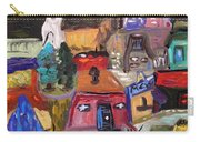 White Horse In The Village Field Carry-all Pouch