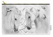 White Horses No 01 Carry-all Pouch