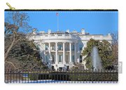 White House South Lawn With Snow Carry-all Pouch