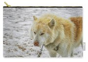 White Huskie Carry-all Pouch