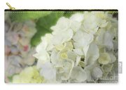 White Hydrangea At Rainy Garden In June, Japan Carry-all Pouch